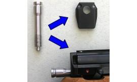 Tylna pokrywa korpusu HW100 z otworem na śrubę regulacji zbijaka / [A1-LOCHKAPPE]13144